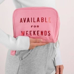 (NWT) ban.do • available for weekends toiletry bag